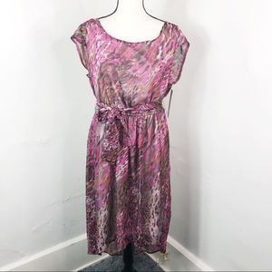 NEW $89 Sharagano Purple Belted Dress 16